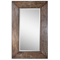 Langford 81 X 51 inch Antiqued Hickory Undertones Wall Mirror
