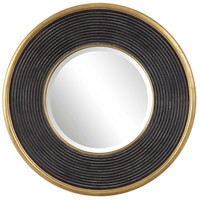 Uttermost 09529 Odyssey 36 X 36 inch Aged Black and Metallic Gold Leaf Wall Mirror thumb