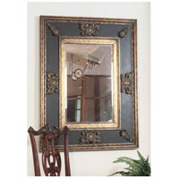 Uttermost Cadence Mirror in Antiqued Gold Leaf Black Distressed Green Glaze 11173-B