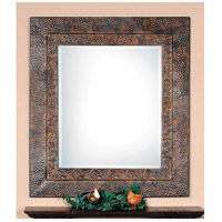 Uttermost Jackson Metal Mirror in Distressed Dark Rust Brown 11182-B