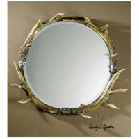 Uttermost Stag Horn Mirror Round in Natural Brown And Ivory 11556-B