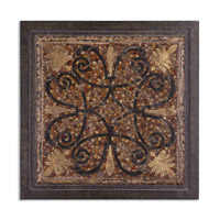 Uttermost Ardah Metal Wall Art in Aged Penshell Distressed Black And Eggshell 11604