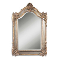 Uttermost Alvita Small Mirror in Heavily Antiqued Gold Leaf 12691-B