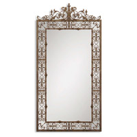 Uttermost Varese Mirror in Distressed Rust Brown 12764