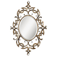 Ameno 46 X 31 inch Heavily Antiqued Golden Champagne Mirror Home Decor