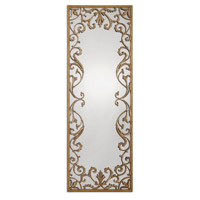 Uttermost 12814 Apricena 68 X 25 inch Antiqued Gold Leaf Mirror Home Decor