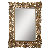 Uttermost Capulin Mirror in Antiqued Gold Leaf 12816