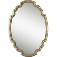 Uttermost 12821 Terelle 39 X 28 inch Antique Gold Leaf Wall Mirror thumb