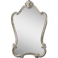 Uttermost Walton Hall White Mirror in Distressed Antique White 12833