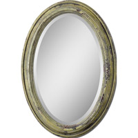 Uttermost Brizona Mirror in Heavily Distressed Aged Yellow 12835