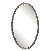 Uttermost Costano Silver Leaf Oval Mirror in Antiqued Silver Leaf 12844