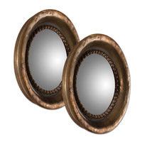 Tropea Rounds 17 X 17 inch Oxidized Copper Mirror Home Decor