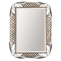 Uttermost Francica Mirror in Oxidized Copper 12850