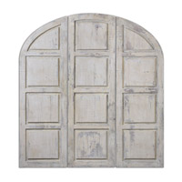 Uttermost Tribunali Set of 3 Wall Panels in Ivory 12877