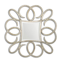 Uttermost Basilius Mirror in Hand Forged Metal 12886