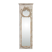 Casella 50 X 16 inch Antique Ivory Wall Mirror Home Decor
