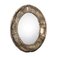 Vevila 41 X 33 inch Plated Oxidized Silver Oval Mirror Home Decor