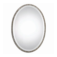 Annadel Oval 28 X 20 inch Plated Polished Nickel Wall Mirror