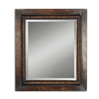 Uttermost Tanika Mirror in Heavily Distressed Dark Brown 13149-B