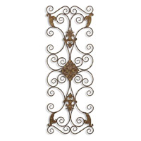 Uttermost Fayola Metal Wall Art in Distressed Aged Black 13318