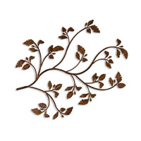Rusty Branch Distressed Brown Rust Metal Wall Art