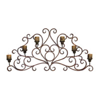 Uttermost Juliana Wall Sconce Metal Wall Art in Dark Red Rust And Olive Bronze 13446