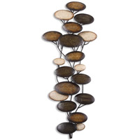 Uttermost Amanita Mwa Metal Wall Art in Heavily Distressed Maple Wash 13461