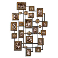 Uttermost Natane Photo Frame Metal Wall Art in Heavily Distressed Maple Wash 13465