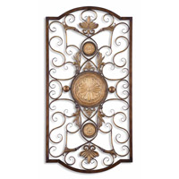 Uttermost Micayla Large Metal Wall Art in Distressed Chestnut Brown 13476