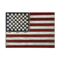 American Flag Aged Red White And Blue Metal Wall Art