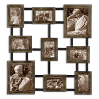 Uttermost Lucho Hanging Photo Collage Metal Wall Art in Dark Burnished Wash 13541