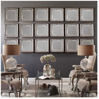 Uttermost Davion Squares Set of 2 Mirror in Distressed Antiqued Silver Leaf 13555-B