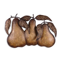 Uttermost 13580 Three Pears 30 X 20 inch Metal Wall Art thumb
