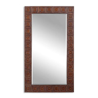 Uttermost Adel Mirror in Burnished Copper Bronze 13646