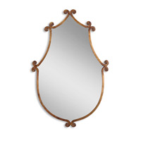 Ablenay 37 X 24 inch Antiqued Gold Wall Mirror