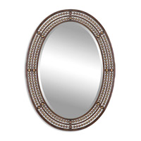 Matney 34 X 24 inch Distressed Oil Rubbed Bronze Mirror Home Decor