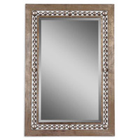 Uttermost Fidda Mirror in Antiqued Silver Leaf 13724