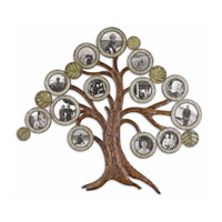 Uttermost Maple Tree Photo Collage Metal Wall Art in Aged Chestnut 13725