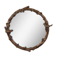 Uttermost 13764 Paza 26 X 25 inch Distressed Antiqued Gold Leaf Wall Mirror thumb
