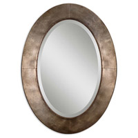Kayenta 38 X 28 inch Heavily Antiqued Silver Champagne Leaf Wall Mirror