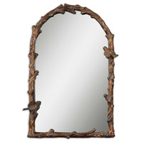 Paza 37 X 26 inch Distressed Antiqued Gold Leaf Wall Mirror