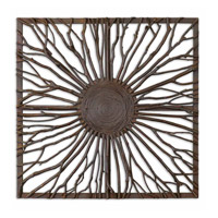 Uttermost Josiah Square Metal Wall Art in Real Branches 13777