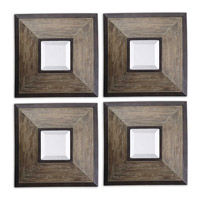 Fendrel Squares 16 X 16 inch Aged Pecan Mirrors Home Decor