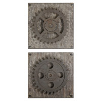 Rustic Gears Rust Bronze Wall Art