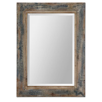 Uttermost Bozeman Distressed Blue Mirror in Distressed Wood 13829