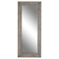 Uttermost Missoula Distressed Leaner Mirror in Slate Blue 13830