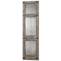 Uttermost Saragano Distressed Leaner Mirror in Slate Blue 13835