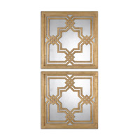 Uttermost 13865 Piazzale 20 X 20 inch Gold Wall Mirrors thumb