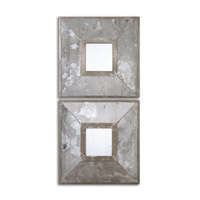 Uttermost Gisila Squares Mirror in Dark Wrought Iron 13886