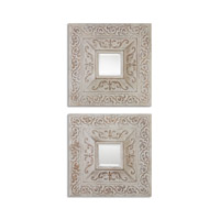 Uttermost Katell Squares Set of 2 Square Mirror in Rust Gray 13919